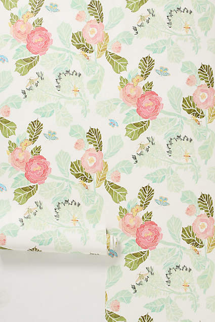 watercolour peony wallpaper