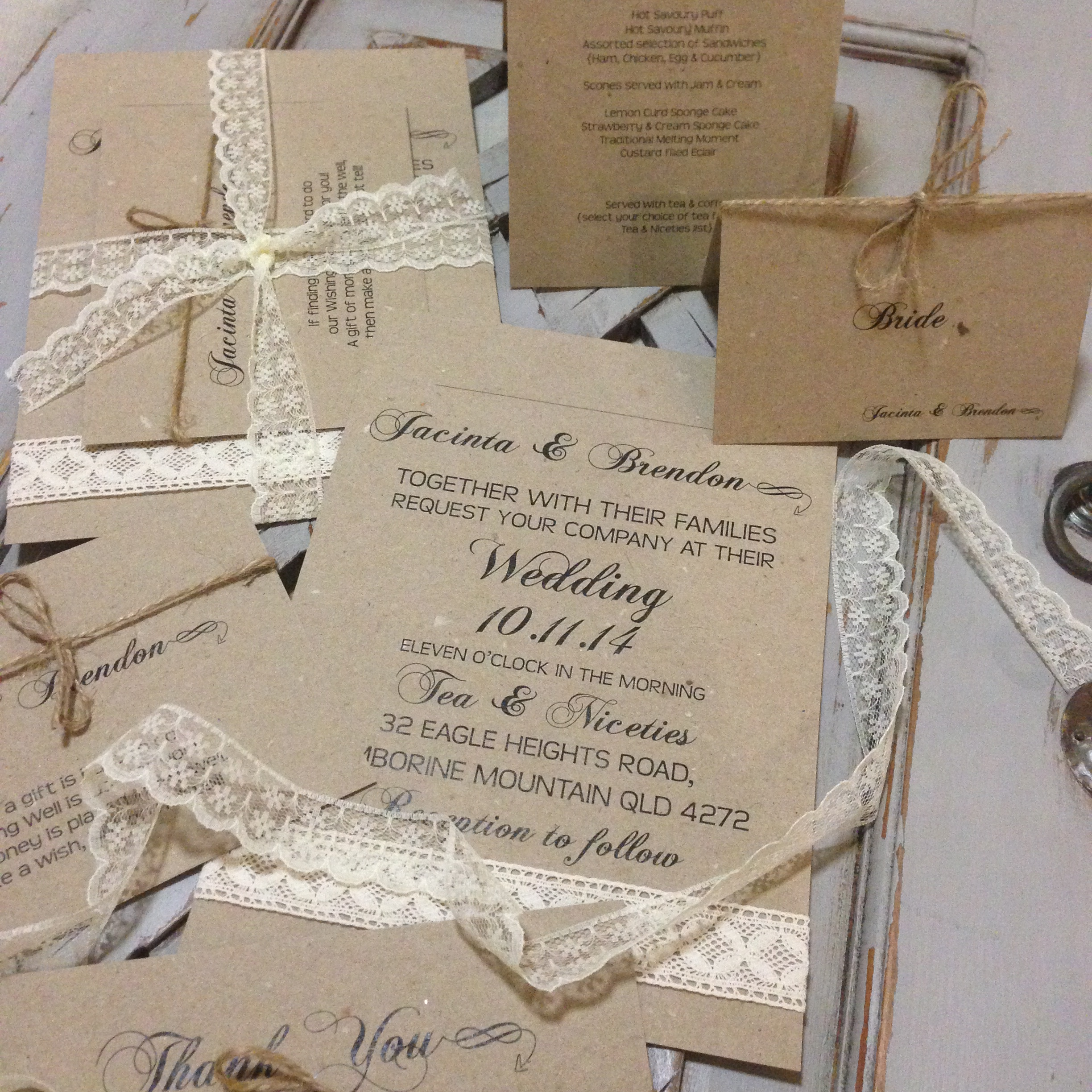 DESIGN & PRODUCTION OF BESPOKE WEDDING STATIONERY